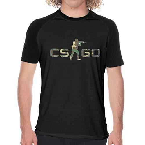 Tシャツドライ吸汗速乾 カウンターストライク Csgo プリント 半袖シャツ メンズ T-Shirt L