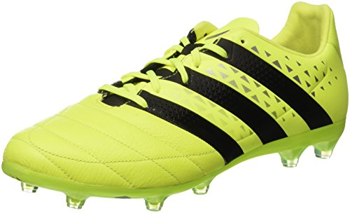 adidas Ace 16.2 Fg Leather, Scarpe da Calcio Uomo, Multicolore (Syello/Cblack/Silvmt), 46 EU