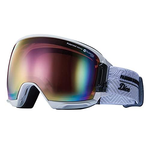 DICE (ダイス) スノーゴーグル HIGHROLLER ハイローラー HR11361 W パステルピンクミラー×偏光ピンク 日本製 スキー スノーボード