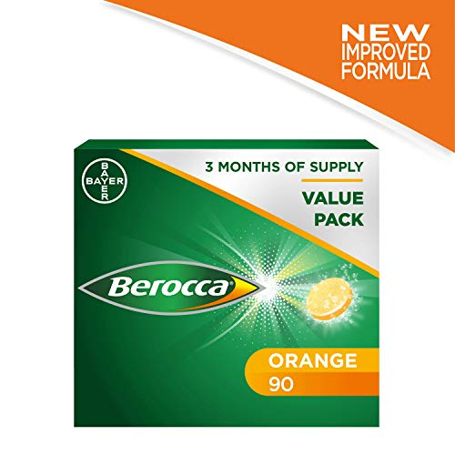 6 x 15 unidades Berocca tablets de vitaminas magnesio Zinc naranja rotulador