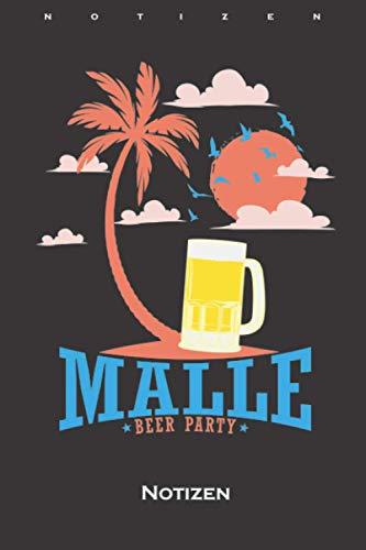 Malle Bier Party am Strand Notizbuch: Kariertes Notizbuch für Partymonster und alle die gern Feiern