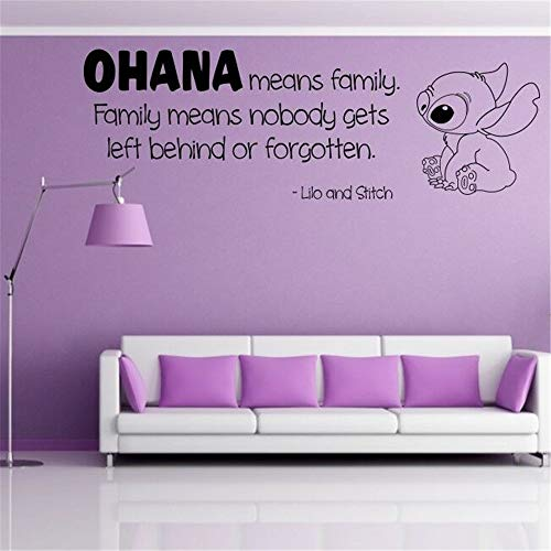 Wandtattoo Wohnzimmer Wandtattoo Schlafzimmer Ohana Kindergarten inspiriert Wall Decal Ohana Wall Quote Familie Lilo Stitch Decal Aufkleber Kinder Film sagen Vinyl Decals