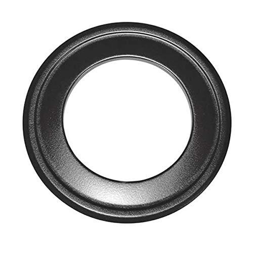 Ø 125 mm Rosette für isoliertes Alu-Flexrohr Schwarz