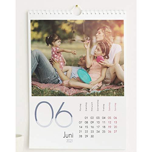 Fotokalender 2021 mit Relieflack, Kalenderjahr, Wandkalender mit persönlichen Bildern, Kalender für Digitale Fotos, Spiralbindung, DIN A4 Hochformat