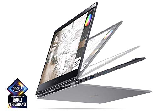 Acer Spin 5 13.3' FHD Touch Screen 2-in-1 Laptop with Intel Quad Core i7-8565U Processor up to 4.60 GHz, 16GB Memory, 512GB SSD, Backlit Keyboard, and Rechargeable Active Stylus Included (Renewed)