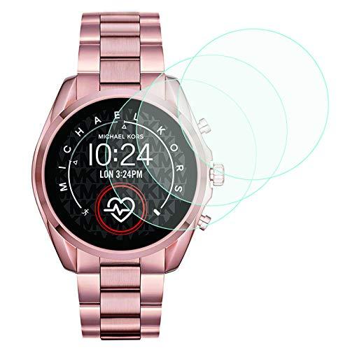 LvBU Für Michael Kors Bradshaw 2 Bildschirmschutzfolie, 9H Festigkeit Panzerglas Schutzfolie für Michael Kors Access Bradshaw 2 Smartwatch (3 Pack)