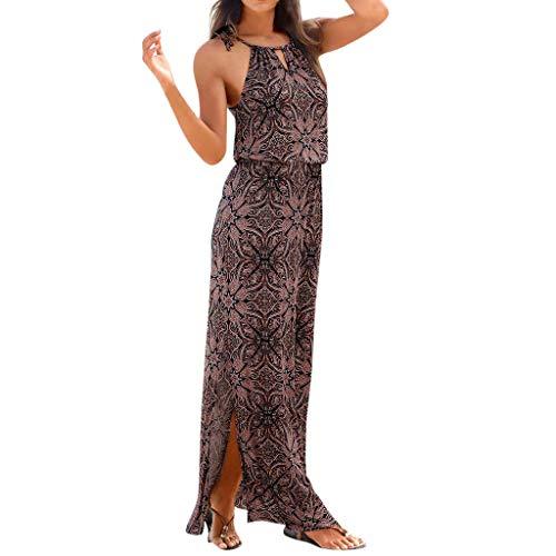 SCHOLIEBEN Kleid Kleider Sommerkleid Vintage Böhmische Damen Sommer Festliche Jersey Schöne Elegante Abend Abschlussball Maxi Lang Sexy Partykleid Maxikleid Strandkleider
