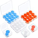 21 Pairs Ear Plugs for Sleeping Soft Reusable Moldable Silicone Earplugs Noise Cancelling Earplugs Sound Blocking Ear Plugs with Case for Swimming, Snoring, Concert Airplane 32dB NRR