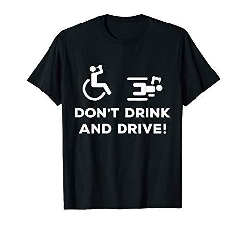 Rollstuhlfahrer Bier - Behinderung Rollstuhl Alkohol saufen T-Shirt