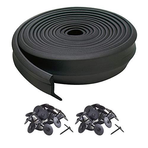M-D Building Products, Black 3749 Garage Door Bottom Rubber, 16 Feet