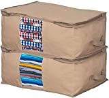 Clothes Storage Bag Organizer with Moth Protection – Cedar Insert to Protect from Moth, Insects, Moist etc.- Set of 2...