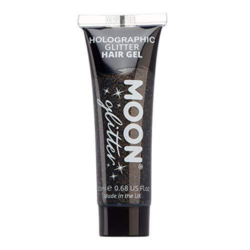 Moon Glitter - Gel capillaire à paillettes holographique - 20ml - Noir