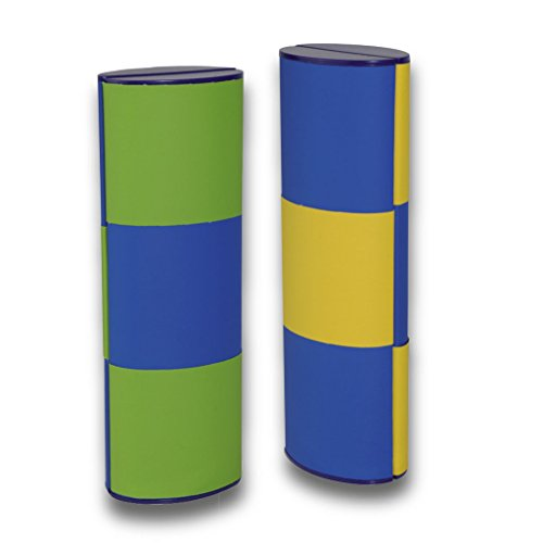 Lifestyle-Optik Zauberetui Brillenetui Logic MEDIUM LANG Bicolor 14113 mit Farbwechsel in grün-blau/gelb-blau 180 Grad drehbar