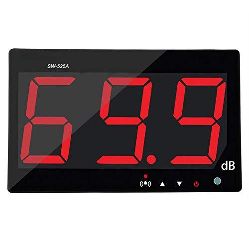 Medidor de nivel de sonido digital SW525A gran pantalla LCD Medidor de ruido Decibelio montado en la pared Nuevo