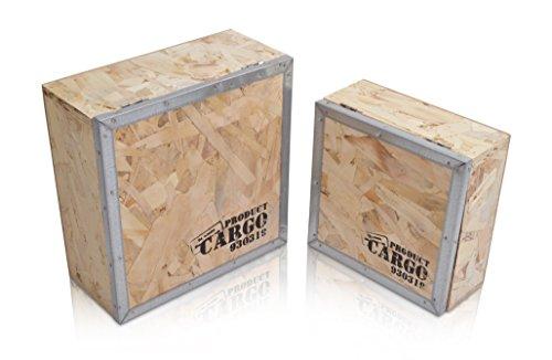 CHICCIE 2er Set Aufbewahrungkiste aus Holz - Kiste Holzkiste Holzbox