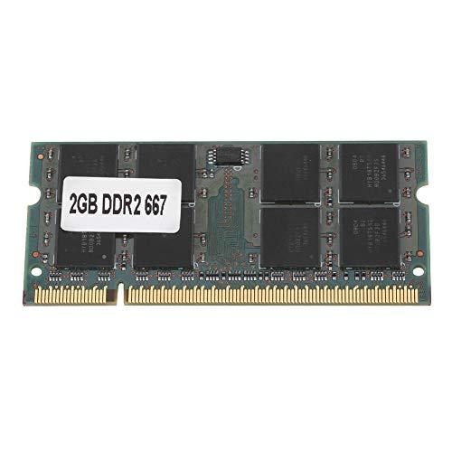 Kafuty Memoria DDR2 da 2 GB a 667 MHz per Laptop Notebook PC2-5300, Memoria Compatibile con 200Pin per Scheda Madre Intel/AMD, Resistente alla corrosione e Resistente