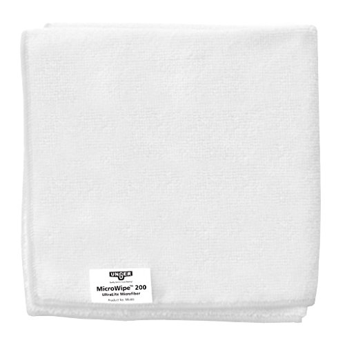 Unger Mikrofasertuch MicroWipe 200 (Farbe weiß, Größe 40x40 cm, 10 Stück, 80% Polyester / 20% Polyamid, Reinigungstücher) ME40W