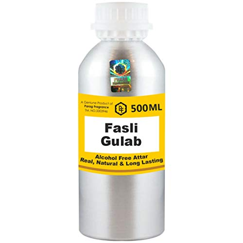 Parag Fragrances Fasli Gulab Attar 500 ml Attar (Sans alcool, Attar de longue durée pour hommes - Femmes et usage religieux) Worlds Best Attar | Itra | Huile parfumée | Parfum