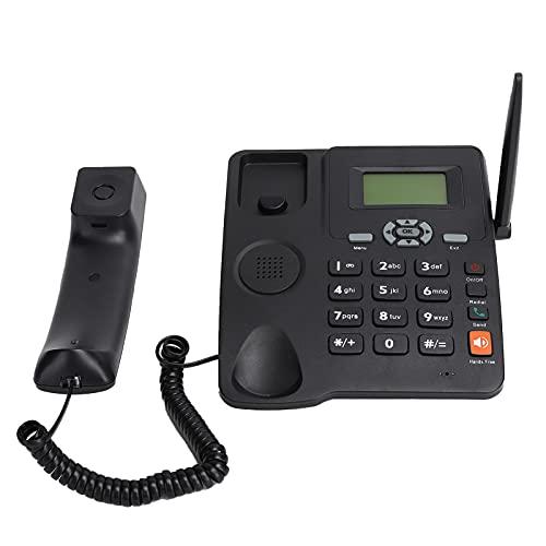 Goshyda Teléfono con Cable Teléfono Fijo, teléfono con Cable de Llamada con Manos Libres Antena Externa Tono de Llamada para Volver a marcar Teléfono con Tono de Llamada y Mensaje múltiple