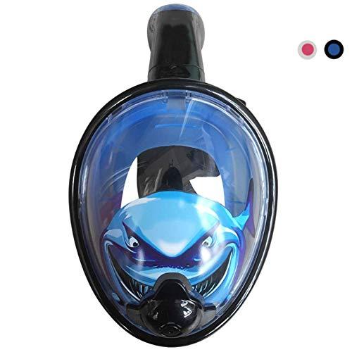 MXDCY 180 ° Panoramablick auf das Meer Vollgesichts-Schnorchel-Maske Anti-Fog und Anti-Leak mit Action-Kamera-Slot Free Easy Breathe Design (Farbe : Blau)