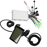 Xianw Motor Brushless Controller+LCD Display Mete, 36V/48V 350W Waterproof Electric Bicycle Scooter Brushless Controller Kit...