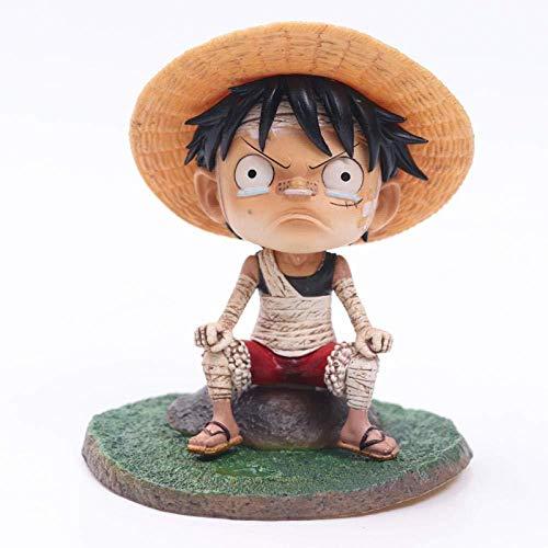 UanPlee-SC Regalo One Piece GK Vendaje Luffy Infancia Llorando PVC Muñeca móvil Muñeca Juego Juguetes para niños Caja Colección Regalo Altura: 12 cm