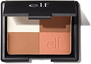 e.l.f. Cosmetics Bronzer, 4-in-1 Powder Bronzer Compact for a Radiant, Sun-Kissed Glow, Cool