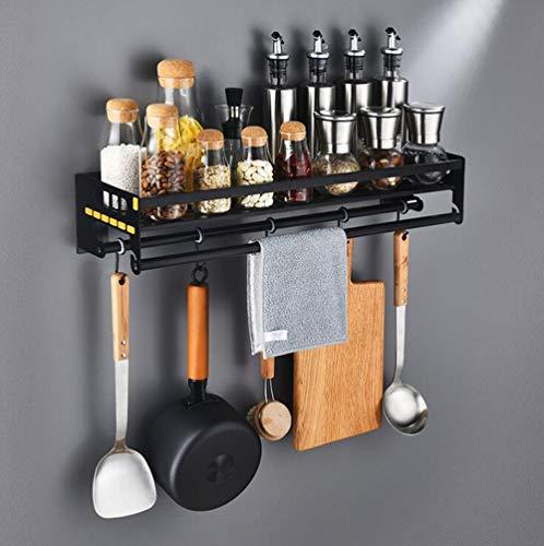 OOFAY Mensola da Cucina in Acciaio Nero Bronzo Forno A Microonde Mensola Appeso A Parete Cucina Cremagliera,15 * 70