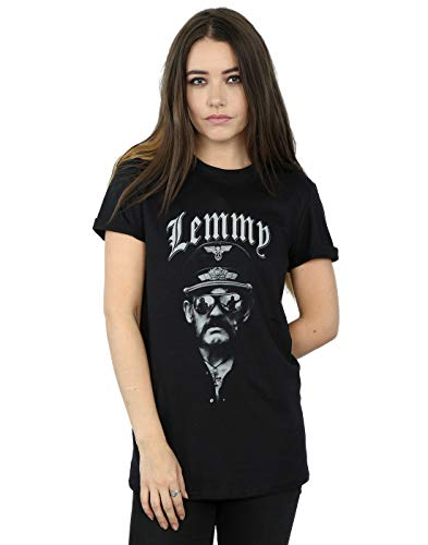 Absolute Cult Motorhead Mujer Lemmy Sunglasses Camiseta del Novio Fit Negro Large