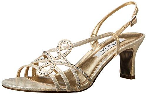 NINA Women's Garland-FY Dress Sandal Silver Size: 5 UK
