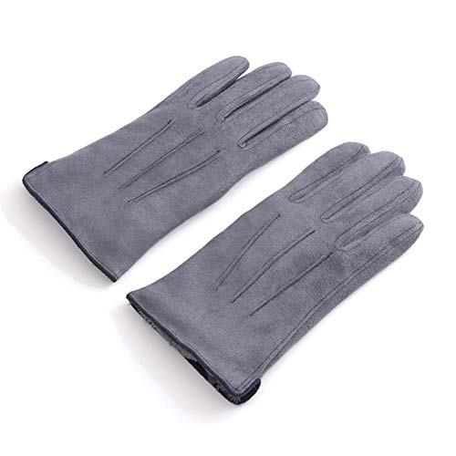 Heren winter warme plus fluwelen binnenhandschoenen herenmode eenvoudige stijl verdikte outdoorhandschoenen