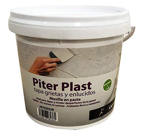Masilla en Pasta Interior - Piter plast al Uso, Sirve para tapar agujeros, grietas y fisuras. (5 kg.)
