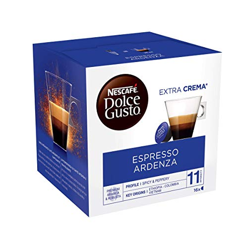 Nescafé Dolce Gusto Espresso Ristretto Ardenza, 3er Pack, Kräftig, Kaffee, Kaffeekapsel, 3 x 16 Kapseln (48 Portionen gesamt)