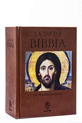 La Sacra Bibbia. La via della Pace. Edizione a caratteri grandi in ecopelle marrone