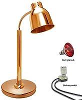 OESFL 食品断熱ランプ食品ウォーマーライト、ホテルやビュッフェに適したローズゴールドシングルヘッド食品ウォーマーランプ、防爆赤外線電球、商用ビュッフェ保温ランプ、 (Color : Redlightordinaryswitch)