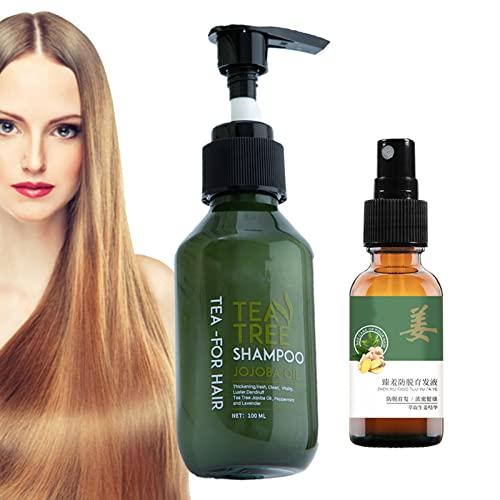 Hair Growth Set, Nourishing Anti Hair Loss Hair Growth Shampoo with Regrowth Nourishing Ginger Spray for Hair Loss and Thinning Hair Men and Women