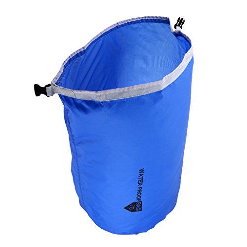 Baoblaze Premium Bolsa Seca Impermeable de Nylon para Almacenamiento de Materiales de Deportes de Agua - Azul 70L