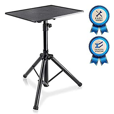 "Pro DJ Laptop, Projector Stand - Adjustable Laptop Stand, Computer DJ Equipment Studio Stand Mount Holder, Height Adjustable, Laptop Projector Stand, 23"" to 41"", Good For Stage or Studio - Pyle (PLPTS3) from Sound Around"