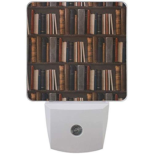 L-e-d Nachtlicht Vintage Bücherregal Room Mysterious Library,Auto Senor Dämmerung bis Morgendämmerung Nachtlicht Plug-in für Kinder Baby Mädchen Jungen Erwachsenenzimmer