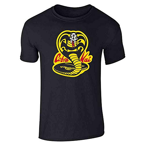 Cobra Kai Costume The Karate Kid Retro Martial Art Black M Graphic Tee T-Shirt for Men