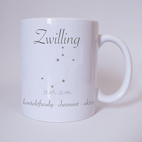 Sternzeichen Zwilling - Tasse - Kaffeetasse - Tasse mit Spruch