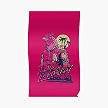 Hotline Miami Richard Poster - For Office Decor, College Dorm, Teachers, Classroom, Gym Workout And School Halloween, Holiday, Christmas Party ! Great Inspirational Wall Art Poster.