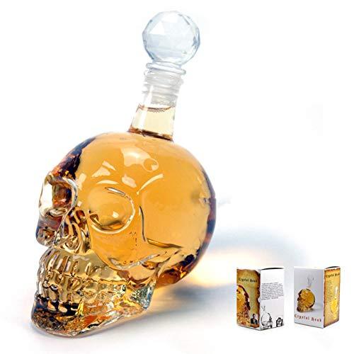 Botella de Vino de Calavera Botella de Vodka de Calavera Botella de Vidrio Creativa Cráneo de Vidrio Dispositivo de Agua de diciembre de 1000 ml