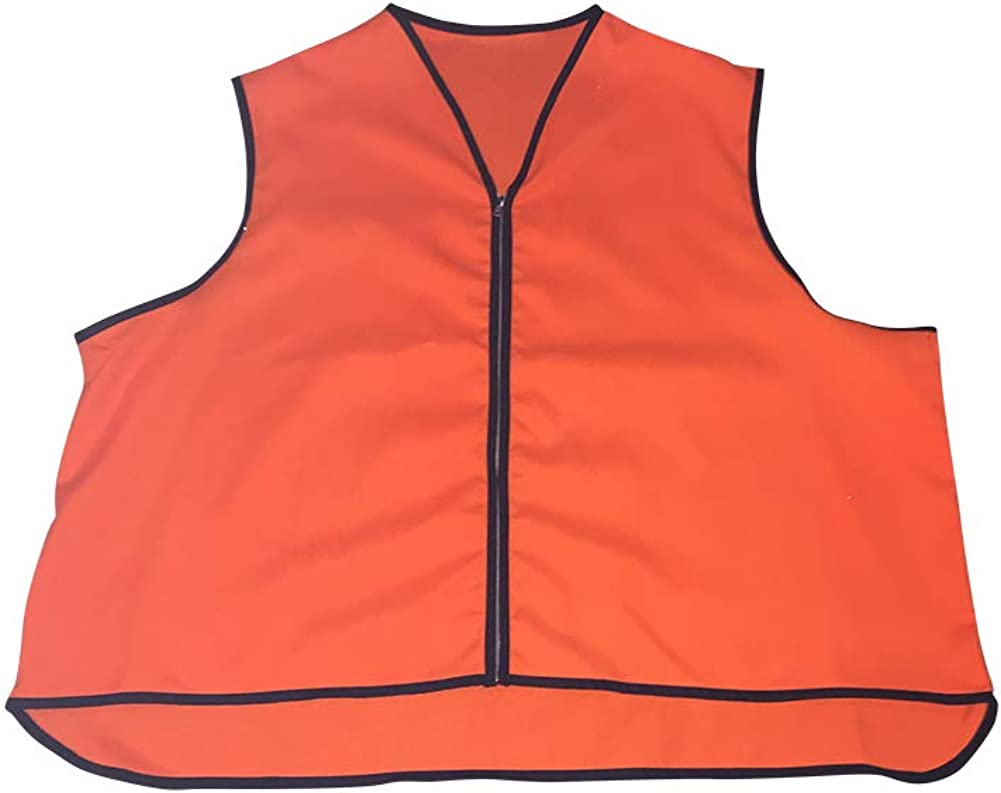 Big and Tall High Visibility Orange Safety Vests Made in USA