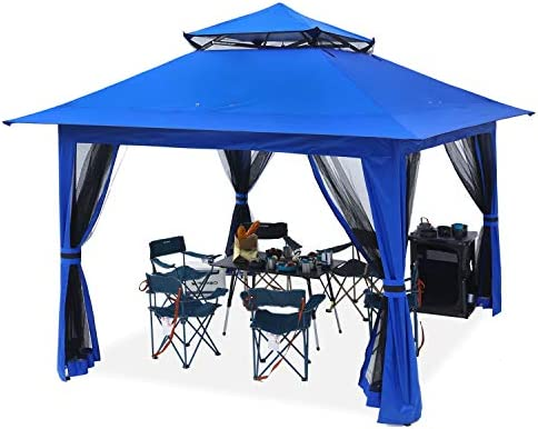 ABCCANOPY 13 x13 Canopy with Mosquito Netting Outdoor Gazebo 169 sq ft Pop up Camping Shelter product image