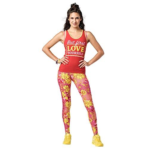 Zumba Dance Fitness Atmungsaktive Tank Workout Racerback Sportkleidung Damen, Ruby, Medium