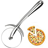 Tagliapizza professionale, in acciaio inox, con protezione per le dita, senza graffi, antiscivolo, per tagliare pizza, torte, waffle, pancake e più di 18,5 x 2 x 6,8 cm