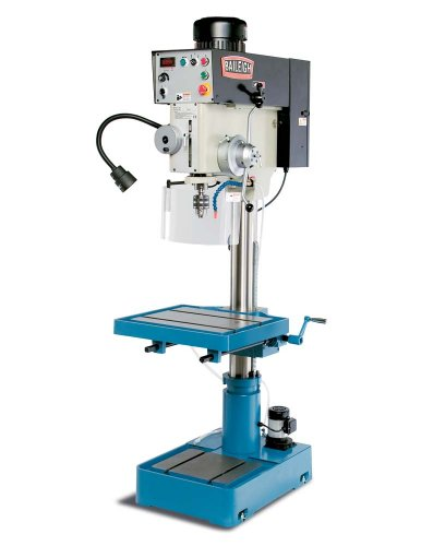 "Baileigh DP-1500VS Variable Speed Drill Press, 1-Phase 220V, 2hp Motor, 1.5"" Capacity"