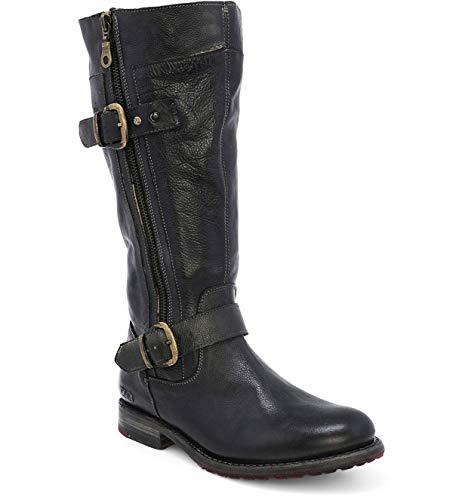 Bed|Stu Women's Gogo Lug Wide Calf Leather Boot (7.5, Black Rustic)