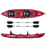 ATLANTIS Kayak-Canoa 2 posti Enterprise cm 370-2 gavoni - 2 seggiolino - 2 pagaie - 2 port...